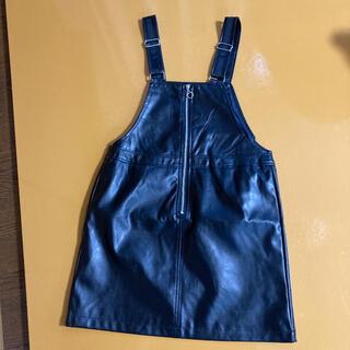 GU - ジャンパースカート 黒 140センチ ワンピース