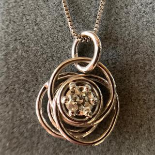 デビアス(DE BEERS)のデビアス フォーエバーマーク ダイヤモンドネックレス K18WG 美品(ネックレス)