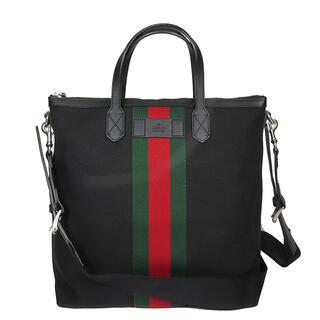 Gucci - グッチ  2WAYバッグ  ウェブライン 368559  ブラック