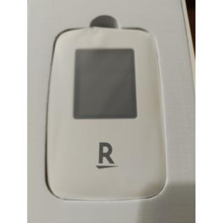 ラクテン(Rakuten)の【新品★未開通★送料無料】Rakuten WiFi Pocket ホワイト(スマートフォン本体)