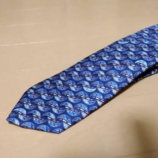 エミリオプッチ(EMILIO PUCCI)の美品エミリオプッチ正規品   ブルー色系   PUCCIデザイン柄ネクタイ(ネクタイ)