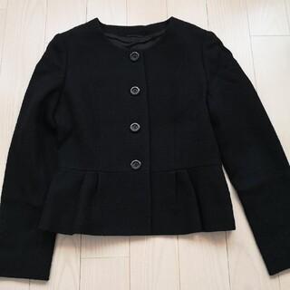 ANAYI - アナイ ノーカラーペプラムジャケット