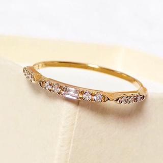 アガット(agete)のagete アガット  K18 ダイヤモンド リング  0.12ct  #13(リング(指輪))