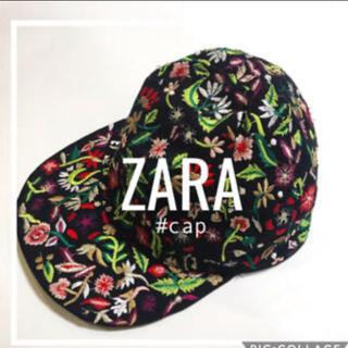 ザラ(ZARA)のZARA 刺繍 キャップ 帽子(キャップ)