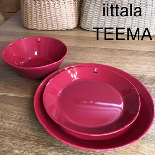 イッタラ(iittala)の【新品】イッタラ ティーマ レッド3点セット(食器)