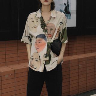 お面 能面 日本 シャツ