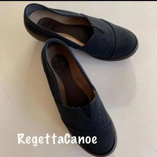 RegettaCanoe リゲッタ カヌー 帆布製 靴 S 黒