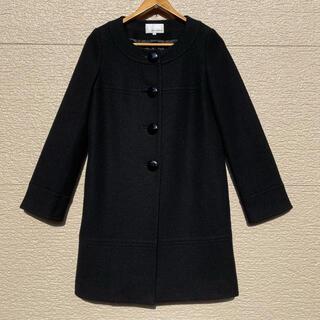 M-premier - m's select エムズセレクト コート ノーカラー 黒 ブラック 38