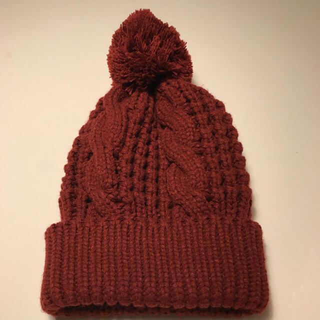 TOMORROWLAND(トゥモローランド)の激レア!美品!J-AXISリーフ編み込み模様!万能ニット帽 レディースの帽子(ニット帽/ビーニー)の商品写真