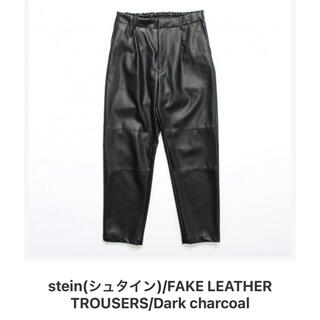 1LDK SELECT - stein FAKE LEATHER TROUSERS