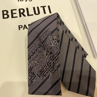 ベルルッティ(Berluti)のBerluti ベルルッティ ネクタイ ラージストライプ シルクスクリット(ネクタイ)