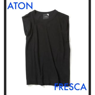Spick and Span - aton FRESCA エイトン フレスカ ノースリーブ タンクトップ ブラック
