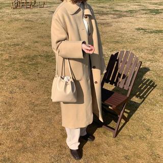lawgy original maru coat ベージュ(ロングコート)