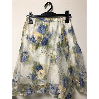 ページボーイ(PAGEBOY)の花柄 スカート(ひざ丈スカート)