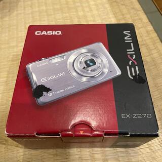カシオ(CASIO)のCASIO EXILIM  EX-Z270 ブルークロス 限定 未使用(コンパクトデジタルカメラ)