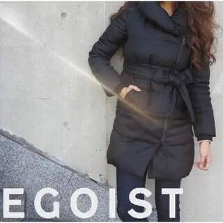 エゴイスト(EGOIST)のEGOIST フェイクレザーベルトショールカラーコート  (ロングコート)