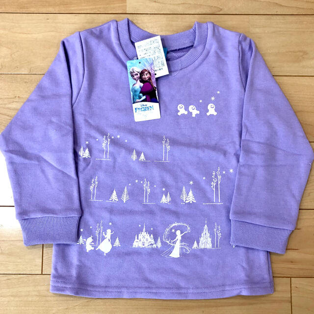 Disney(ディズニー)のディズニー アナ雪 トレーナー キッズ 女の子 100cm ☆新品未使用 キッズ/ベビー/マタニティのキッズ服女の子用(90cm~)(Tシャツ/カットソー)の商品写真