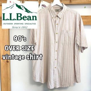 エルエルビーン(L.L.Bean)のL.L.Bean ストライプシャツ ヴィンテージ 90's(シャツ)