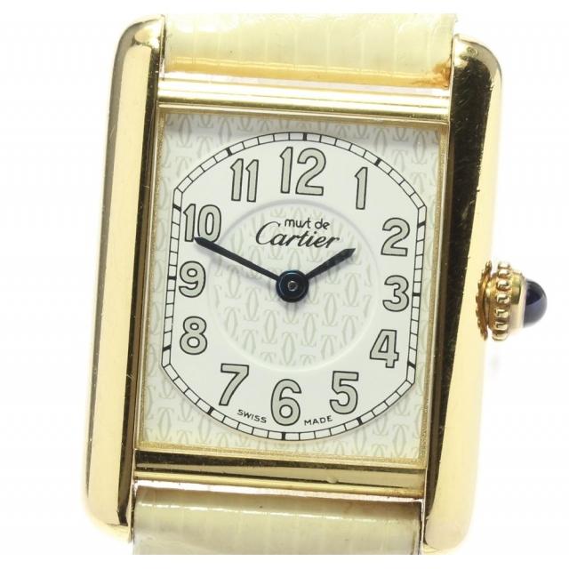 Cartier(カルティエ)のカルティエ マストタンク   クォーツ メンズ 【中古】 メンズの時計(腕時計(アナログ))の商品写真