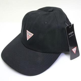 GUESS - 美品 ゲス トライアングル ロゴ キャップ 帽子 黒 ブラック GUESS 三角