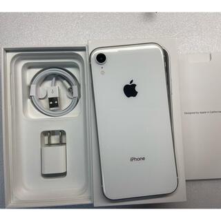 アイフォーン(iPhone)のジャンクiphone XR Silver 256Gb Simフリー(スマートフォン本体)