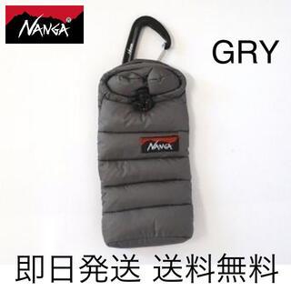 ナンガ(NANGA)の即日発送 送料込み  NANGAミニスリーピングバッグフォンケース GREY(モバイルケース/カバー)