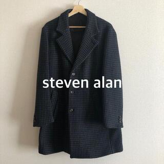 スティーブンアラン(steven alan)の美品 steven alan スティーブンアラン 千鳥柄 チェスターコート(チェスターコート)