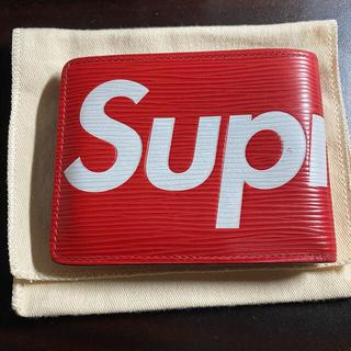 シュプリーム(Supreme)の正規品 LOUIS VUITTON×SUPREME エピ ポルトフォイユ 財布(長財布)