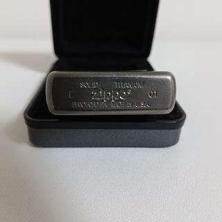 ジッポー(ZIPPO)のzippo solid titanium(タバコグッズ)