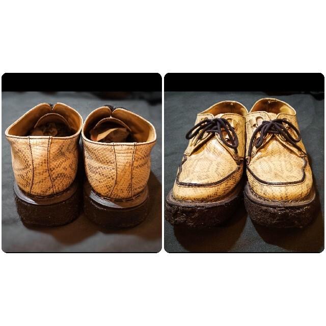 GEORGE COX(ジョージコックス)のラバーソール パイソン柄 ジョージコックス ヘビ柄 UK9 メンズの靴/シューズ(ドレス/ビジネス)の商品写真
