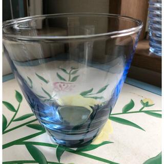レトロ ブルー グラス タンブラー(ガラス)