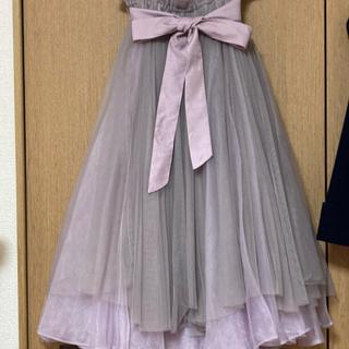 ラベルエチュード(la belle Etude)のラベルエチュード オデット グレイッシュピンク チュールスカート ボリューム(ロングスカート)