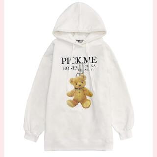 Honey Cinnamon - HoneyCinnamon シナモン ビッグ パーカー ホワイト
