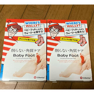 【新品未使用品】ベビーフット 2個セット ウォーリーオリジナル靴下付き(フットケア)