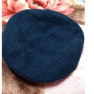 ジーユー(GU)の紺のベレー帽(ニット帽/ビーニー)