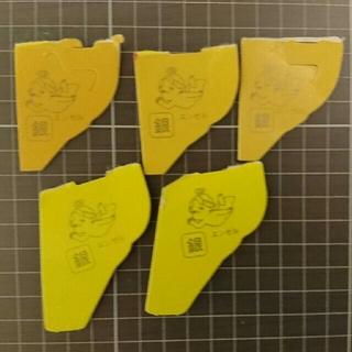 モリナガセイカ(森永製菓)の森永 チョコボール 銀のエンゼル 五枚セット(ノベルティグッズ)