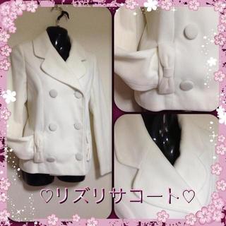 リズリサ(LIZ LISA)の美品♡リズリサホワイトテーラードコート(テーラードジャケット)