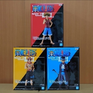 バンプレスト(BANPRESTO)のワンピース magazine FIGURE ルフィ&エース&サボ セット(アニメ/ゲーム)