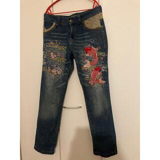 刺繍入りジーンズ(デニム/ジーンズ)
