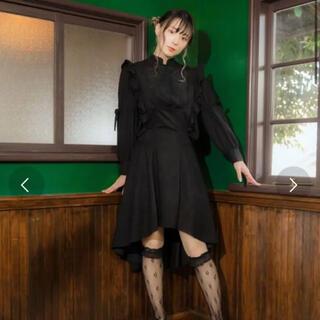 メリージェニー(merry jenny)の被宝園 3連後ろリボンのおでかけジャンスカ(ひざ丈スカート)