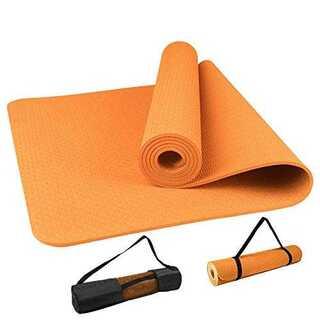 オレンジadabetter ヨガマット トレーニングマット 8mm極厚 高密度 (ヨガ)