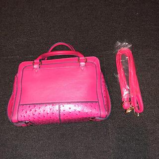 ダイアナ(DIANA)のダイアナ オーストリッチ風 バービーピンク ショッキングピンク ショルダー  (ハンドバッグ)