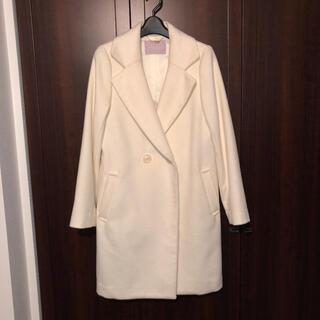 トランテアンソンドゥモード(31 Sons de mode)のトランテアンソンドゥモード オフホワイト  ホワイト 白 コート(チェスターコート)