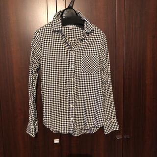 ユニクロ(UNIQLO)のユニクロ ブロックチェック シャツ 黒 白(シャツ/ブラウス(長袖/七分))
