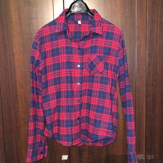 ロイヤルパーティー(ROYAL PARTY)のロイヤルパーティー 赤 チェック シャツ ネルシャツ(シャツ/ブラウス(長袖/七分))