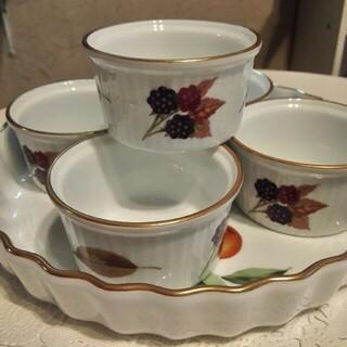ロイヤルウースター(Royal Worcester)のイブシャム タルト皿 ココット5個セット(食器)