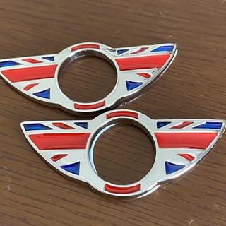 ビーエムダブリュー(BMW)のBMW MINI ミニ ドアピンカバー ドアロックカバー ユニオンジャック 2個(車種別パーツ)