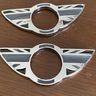 ビーエムダブリュー(BMW)の専用MINI ミニ ドアピンカバー ドアロックカバー UKブラック 2個(車種別パーツ)