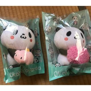 ラクテン(Rakuten)のお買い物パンダぬいぐるみ2個セット(キャラクターグッズ)