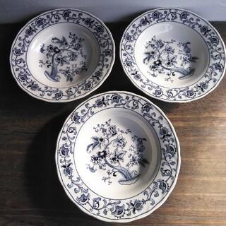 ニッコー(NIKKO)のニッコー ダブルフェニックス ブルーオニオン 深皿 3点 昭和レトロ(食器)